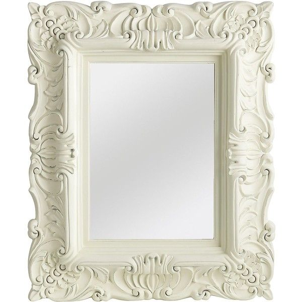 Pier 1 Imports White Baroque Mirror ($249) ❤ Liked On Polyvore Featuring  Home,