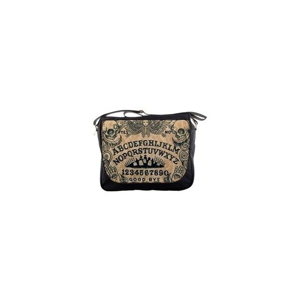 Ouija board messenger bag ❤ liked on Polyvore featuring bags, messenger bags, courier bag, strap bag, brown messenger bag, nylon bag and zip top bag