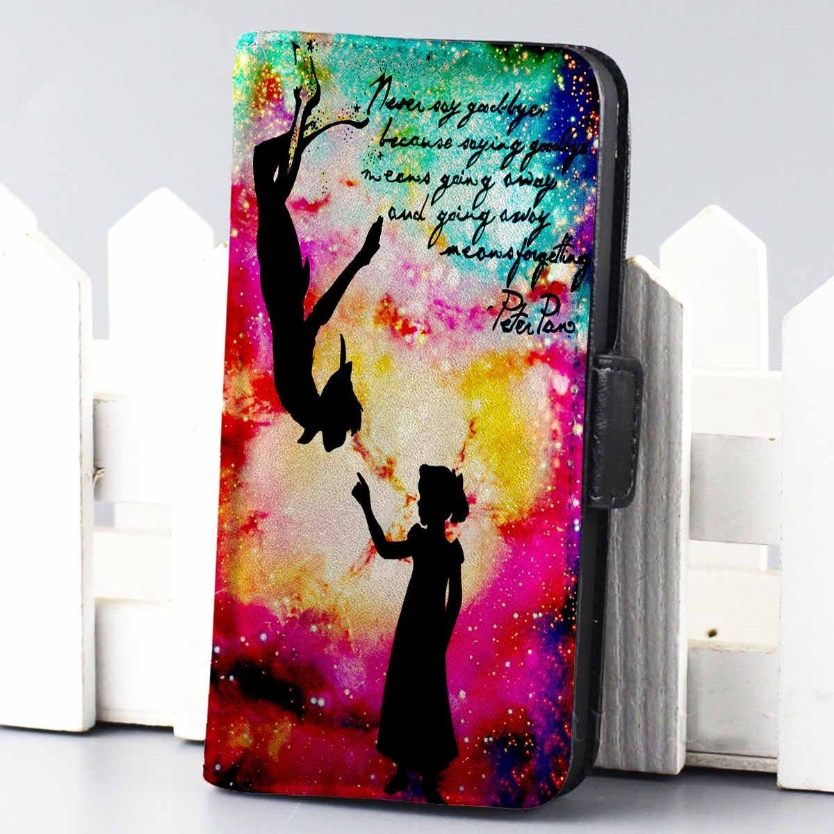 low priced 3518c b04ad Peter Pan and Wendy Galaxy Nebula Disney wallet case for iphone 4,4s ...