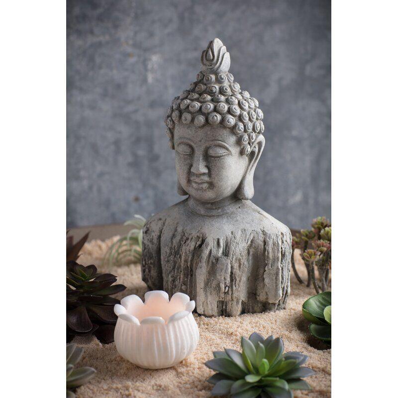 Vanna Buddha Bust Zen Garden Vagabond Vintage Buddha