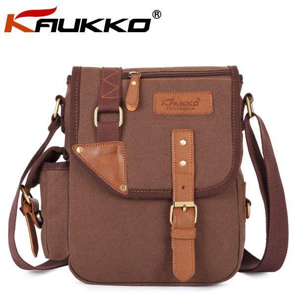 KAUKKO Unisex Microfibric Leather Leisure Crossbody Bag
