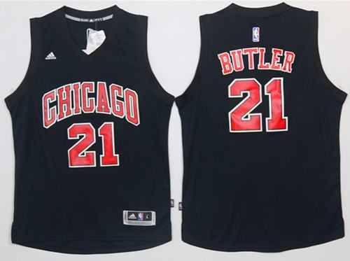 473477ce3e8 Bulls  21 Jimmy Butler Black Fashion Stitched NBA Jersey