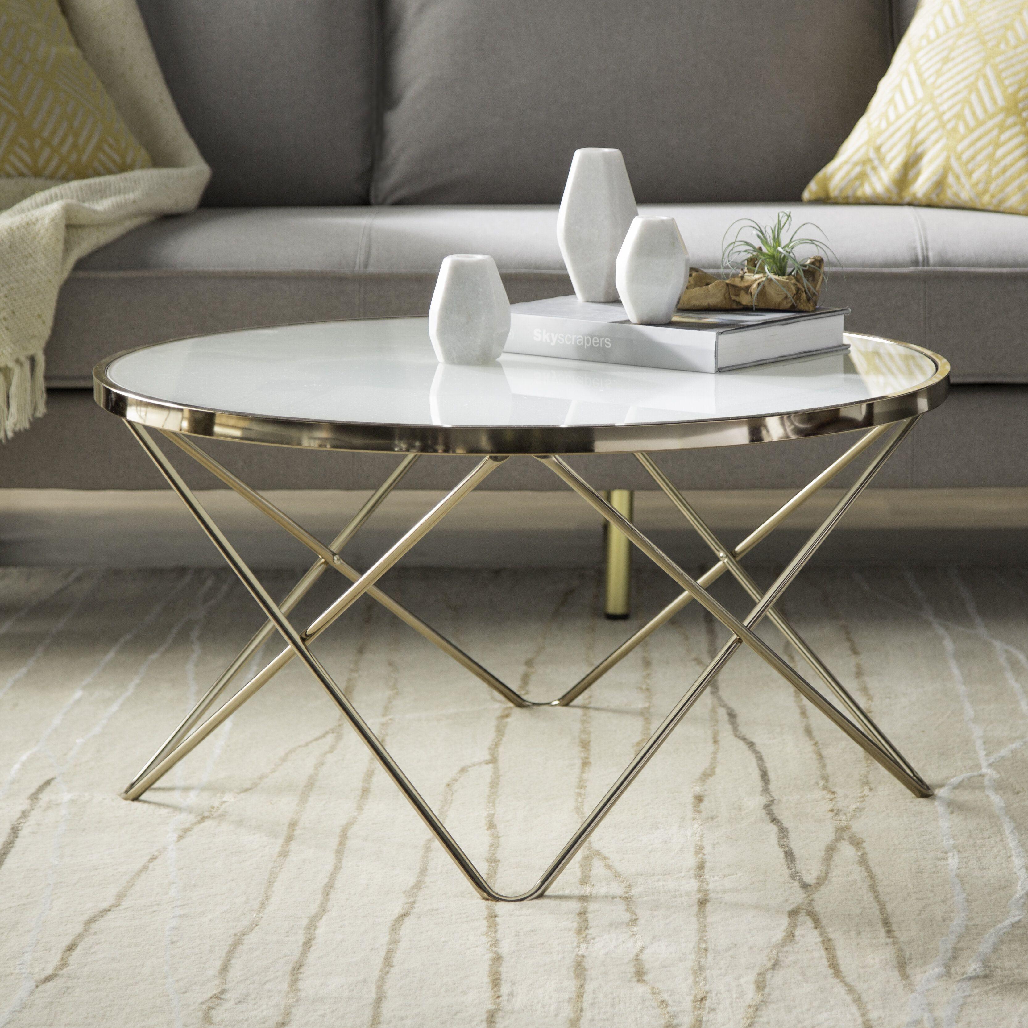 Petite Table Ronde Salon Elegant Table Basse En Metal Avec Plateau