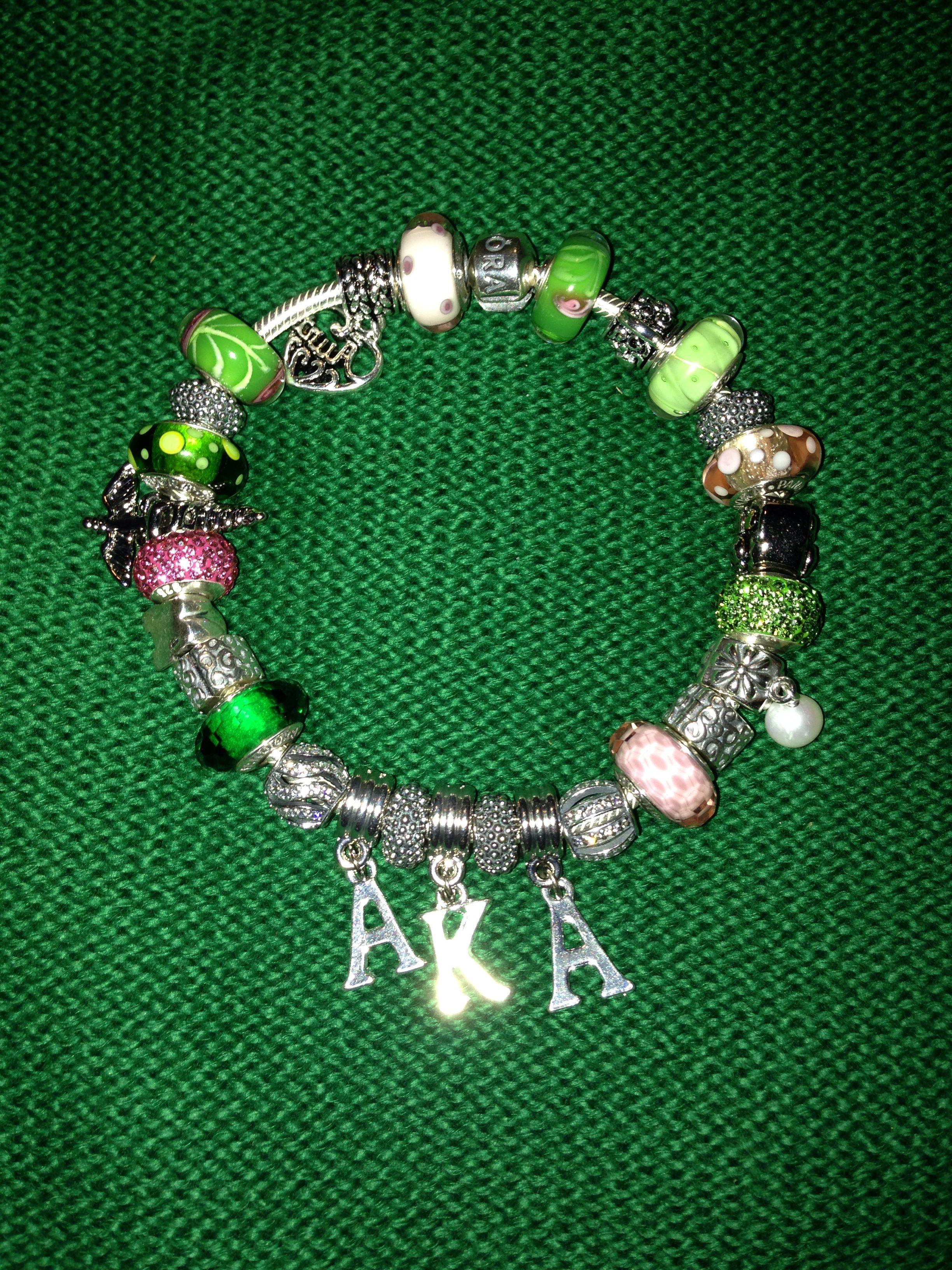 a8b862124 My beautiful AKA Pandora Bracelet | LaChy's AKA | Pandora bracelets ...