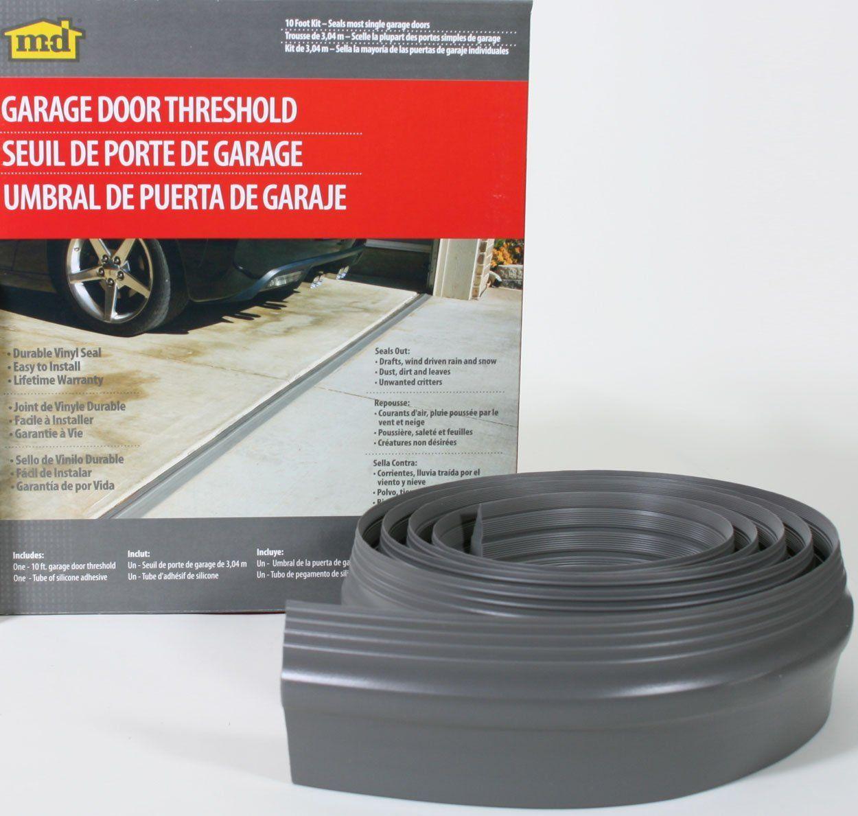 M D Building Products 50100 10 Feet Single Door Garage Door Threshold Kit Garage Door Seal Amazon Com Garage Door Threshold Garage Doors Garage Door Seal