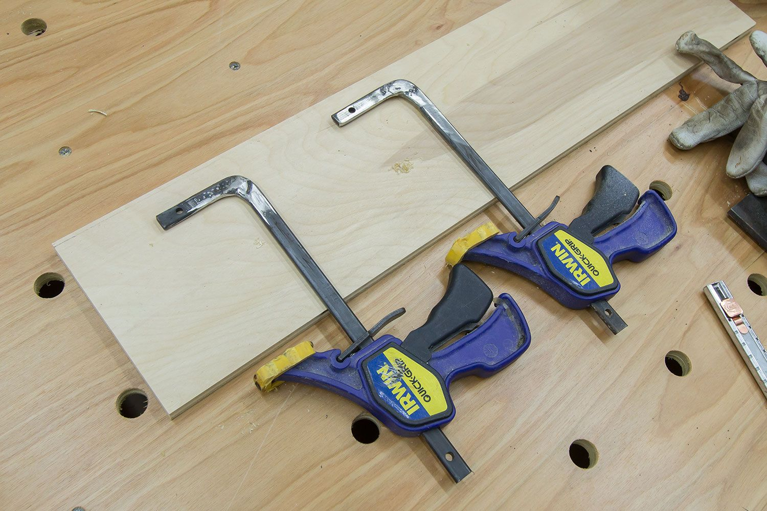 Quick Clamps For Paulk Workbench Or Mft Table Paulk Workbench Woodworking Workbench Workbench