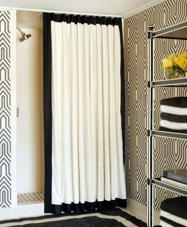 Curtain Ideas Black White Shower Curtain Bed Bath Beyond With