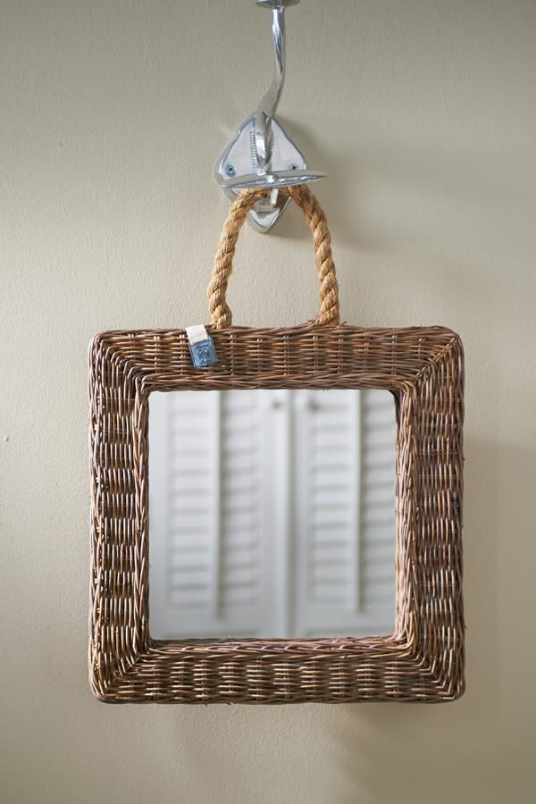 Espejo cuadrado de ratán - rattan square mirror | Cesterìa ...
