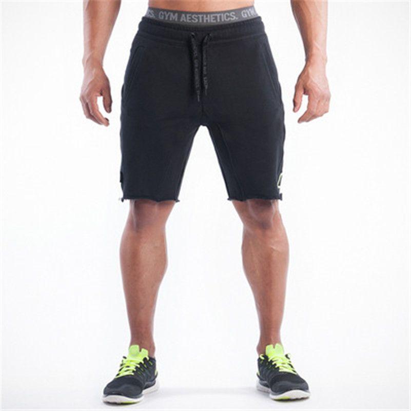 2016 New Golds Clothing Mens Skinny Shorts Fitness Shorts Men ...