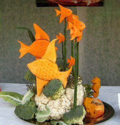 Tallados de frutas y verduras decoraci n con frutas for Decoracion con verduras