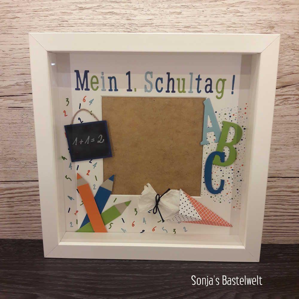 Einschulung Schulbeginn 1. Schultag Bilderrahmen Geschenkidee Ribba Rahmen Stampin' Up!