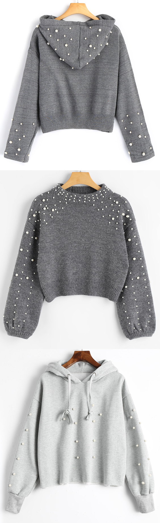 Faux Pearl Mock Neck Sweater | Outfit winter and Fashion fall