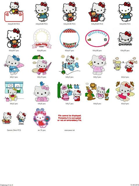 Hello Kitty embroidery designs - Free Machine Embroidery Designs ...