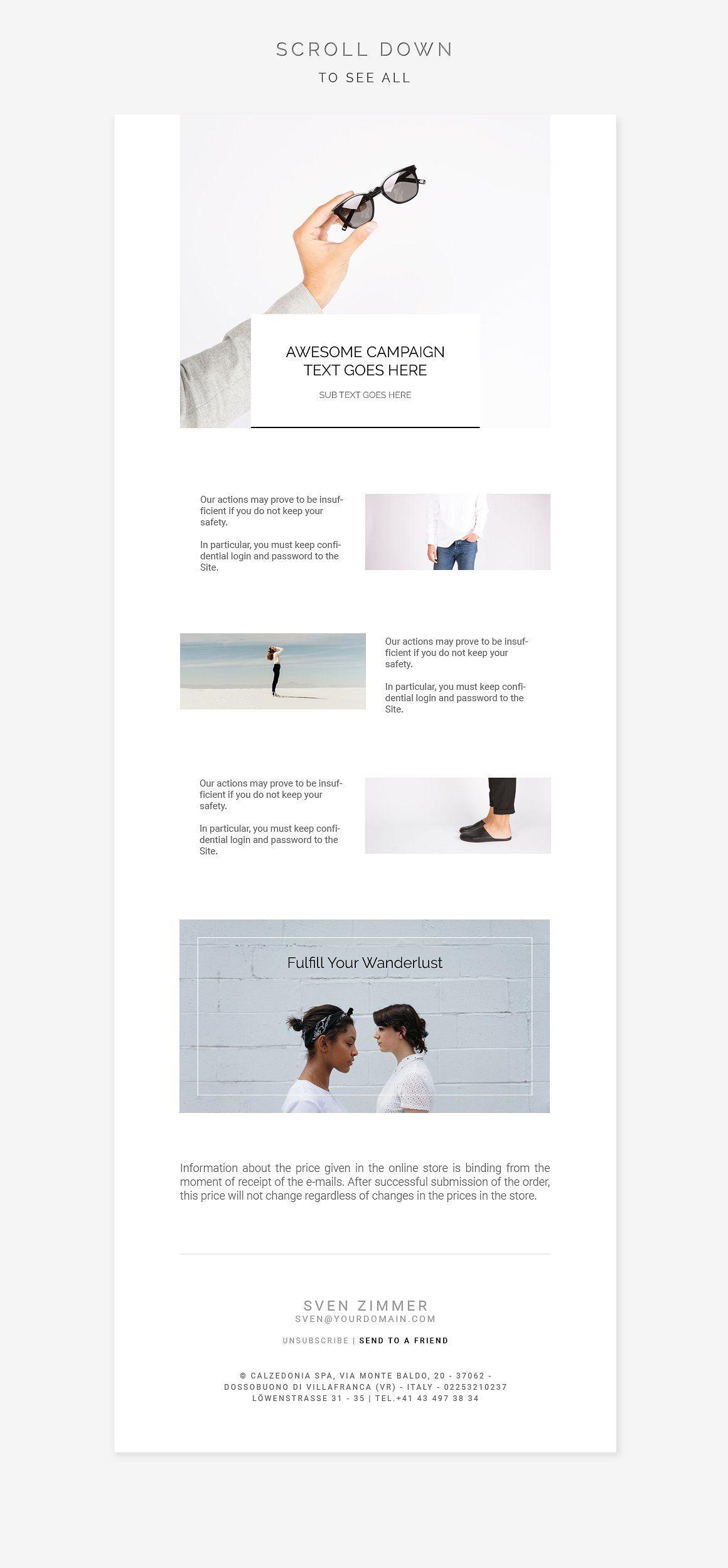 White Fashion E Newsletter Pack Newsletter Design Templates Newsletter Templates Email Newsletter Design