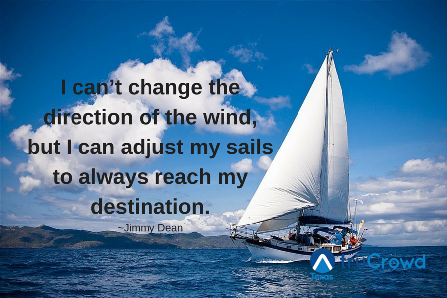 I can/'t change the direction of the wind James Dean Wall Quote