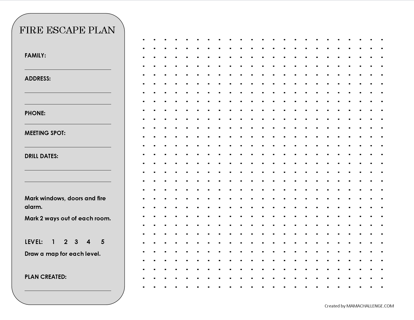 Family Fire Escape Plan to draw your fire escape plan by ...
