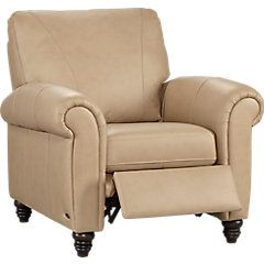 picture of Cindy Crawford Home Lusso Taupe Leather Recliner  from Recliners Furniture