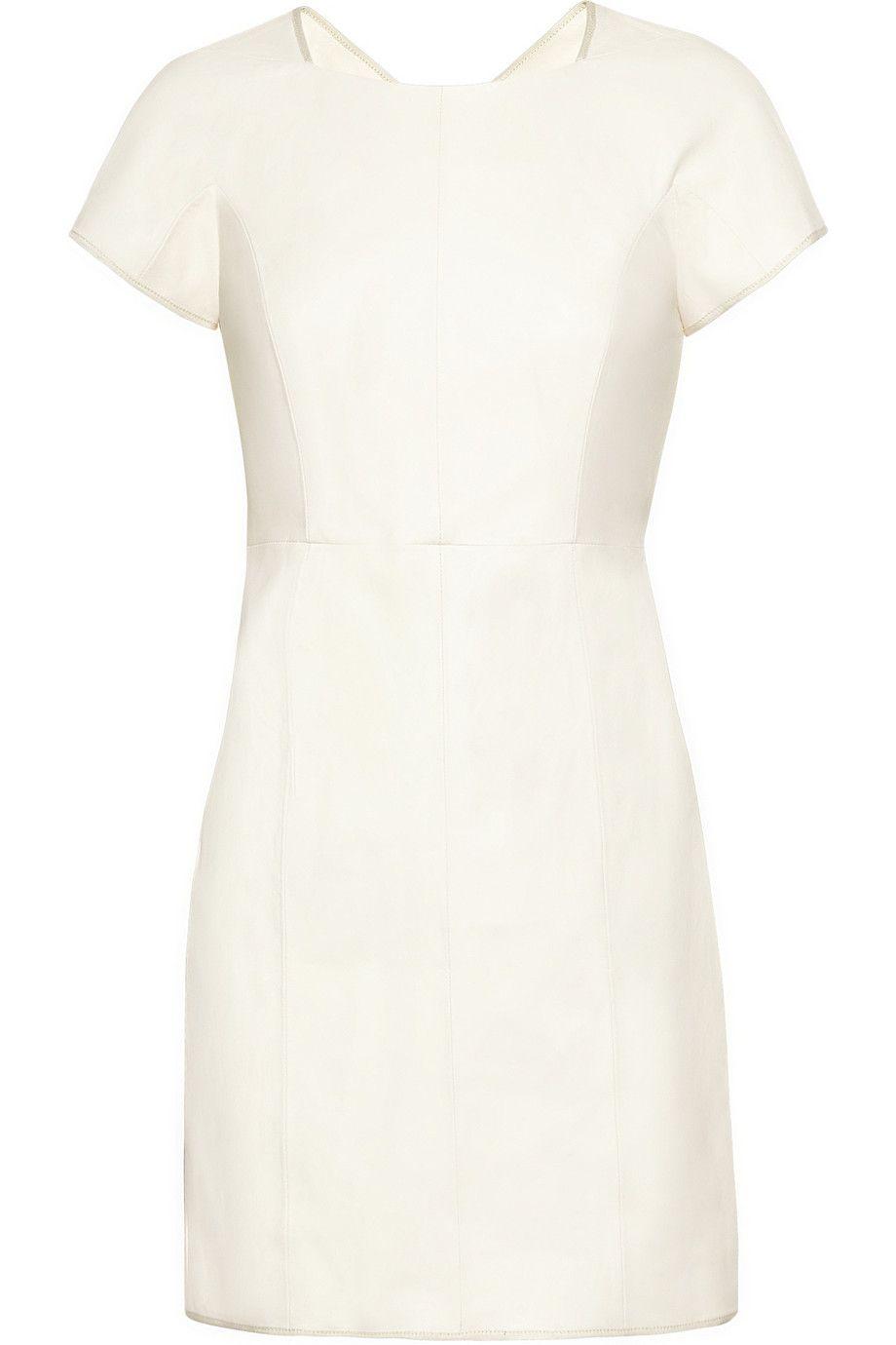 Theyskens Theory White Leather Dress Leather Mini Dress Little White Dresses [ 1380 x 920 Pixel ]
