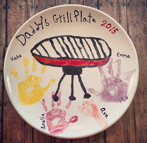Father's Day Gift Idea, Daddy's Grilling Plate! Created By