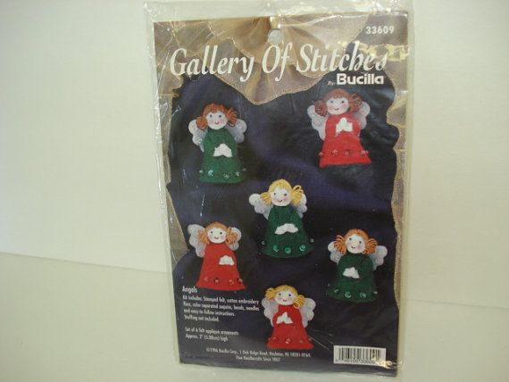 Bucilla Angel Felt Ornament Kit Unopened by SweetLibertyStudio, $7.00