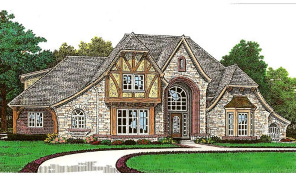 Tudor Style House Plan 4 Beds 4 5 Baths 3839 Sq Ft Plan 310 656 Country Style House Plans French Country House Plans Tudor Style Homes
