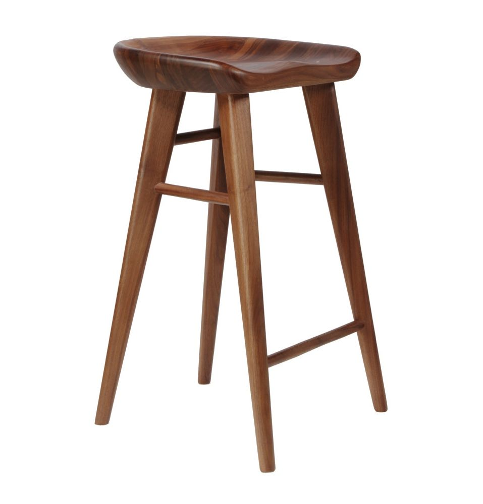 100 walnut bar stool form barstool molded plastic shell cha