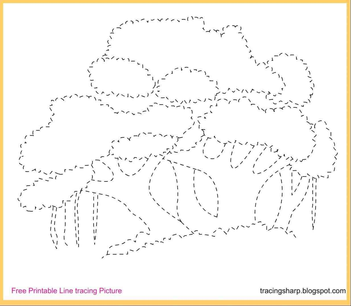 Banyan Tree Drawing Tracing Pictures Preschool Tracing Kindergarten Writing Activities [ 1076 x 1234 Pixel ]