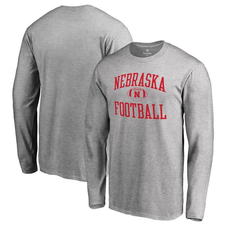e5f63275 Nebraska Cornhuskers Fanatics Branded Neutral Zone Long Sleeve T-Shirt - Ash