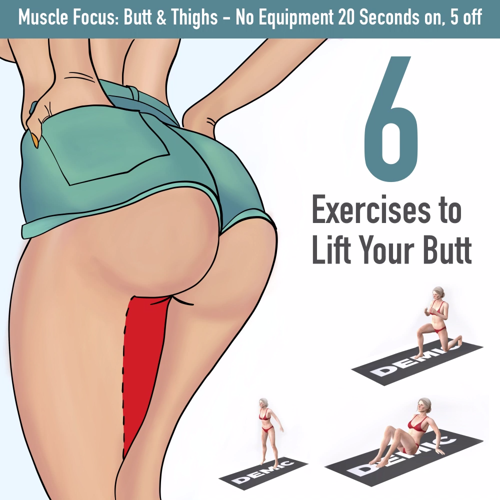 Glutes Workout & Exercises for Women - 20 Butt Lift Exercises For Brazilian Butt