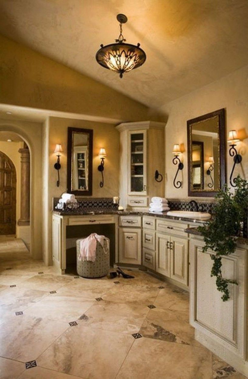 30+ Adorable Tuscan Bathroom Decor Ideas | Tuscan bathroom ...
