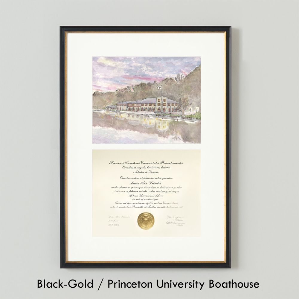 Princeton University Boathouse Diploma Frame