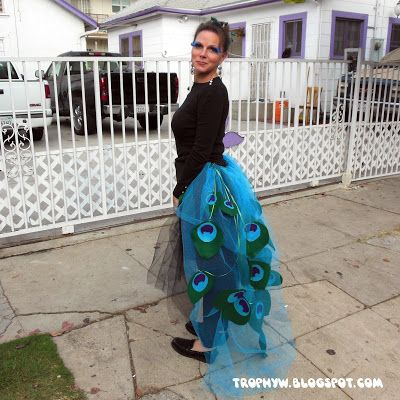 Wow! This is a cool costume! Tales of a Trophy Wife: Let's Make A Deal! Peacock costume