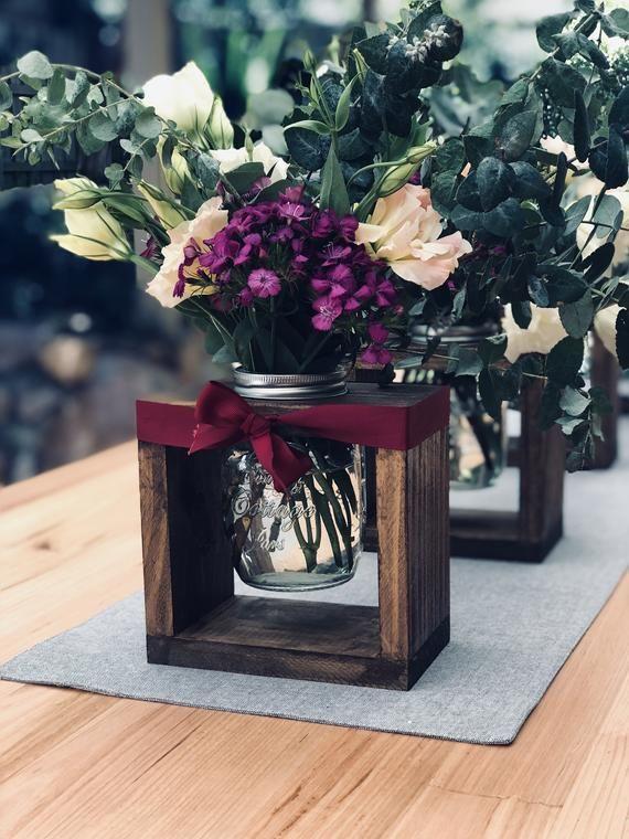 Rustic wedding decorations, wedding centrepieces, rustic vases, wedding isle decorations, rustic decor #weddingdecorations