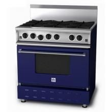 Bluestar Range Rnb 36 Inch Natural Gas Range Cobalt Blue Bbqguys Kitchen Furnishings Bluestar Range Kitchen