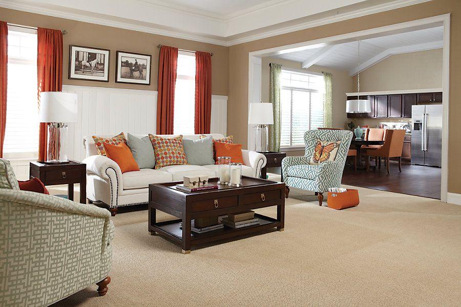 Mohawk's Comfortably Classic Carpet #livingroom  Living Room Cool Carpet For Living Room Decorating Inspiration