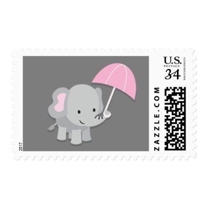 Baby elephant girl baby shower postage stamps baby shower ideas baby elephant girl baby shower postage stamps baby shower ideas party babies newborn gifts negle Image collections