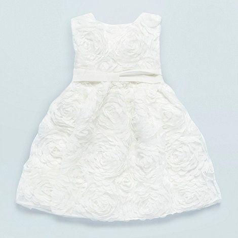 Baker by Ted Baker Baby's white rose ruffle dress- at Debenhams ...