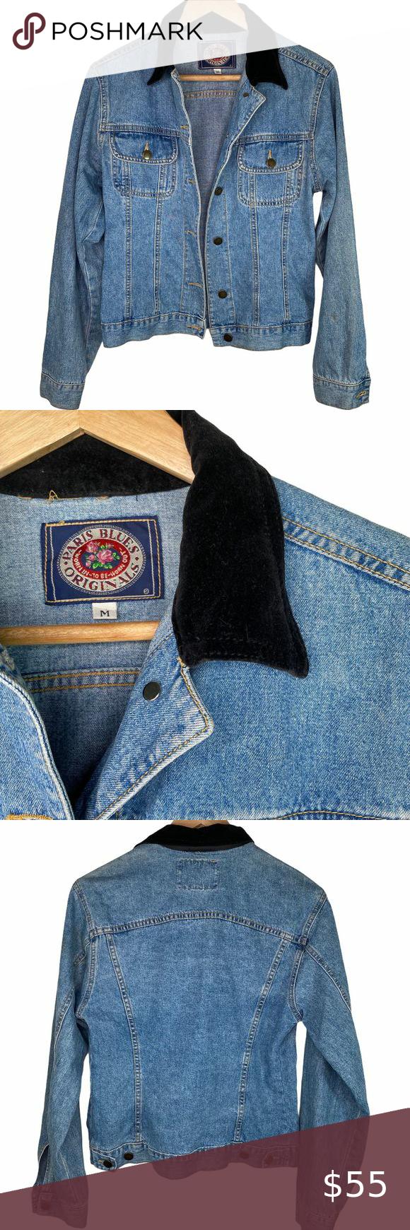 Vintage 90s Paris Blues Velvet Denim Jean Jacket In 2020 Clothes Design Denim Jean Jacket Fashion Design [ 1740 x 580 Pixel ]