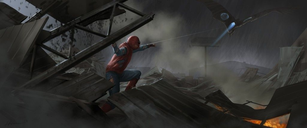 Spider Man Homecoming Movie Art 4k Wallpaper Spiderman Spider Marvel Art