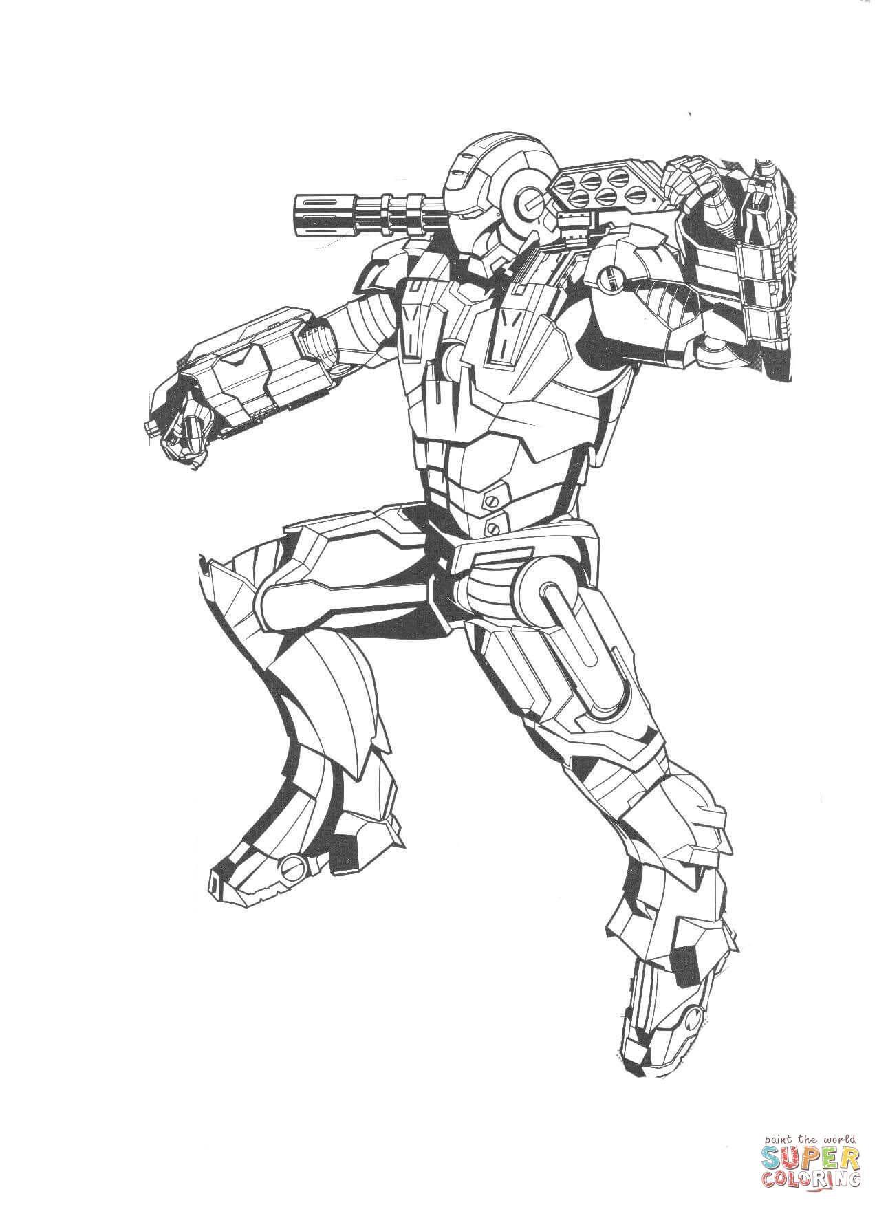 Iron Man I Sin Drakt Super Coloring Avengers Coloring Pages Avengers Coloring Coloring Pages