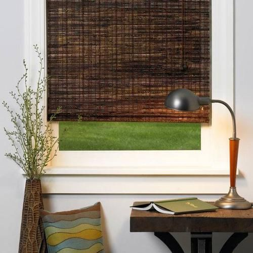 Woven Wood Shade Woods Spaces and Window