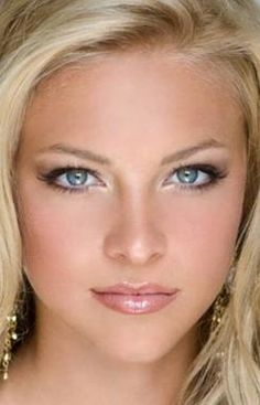 wedding makeup for blue eyes  google search  blonde hair