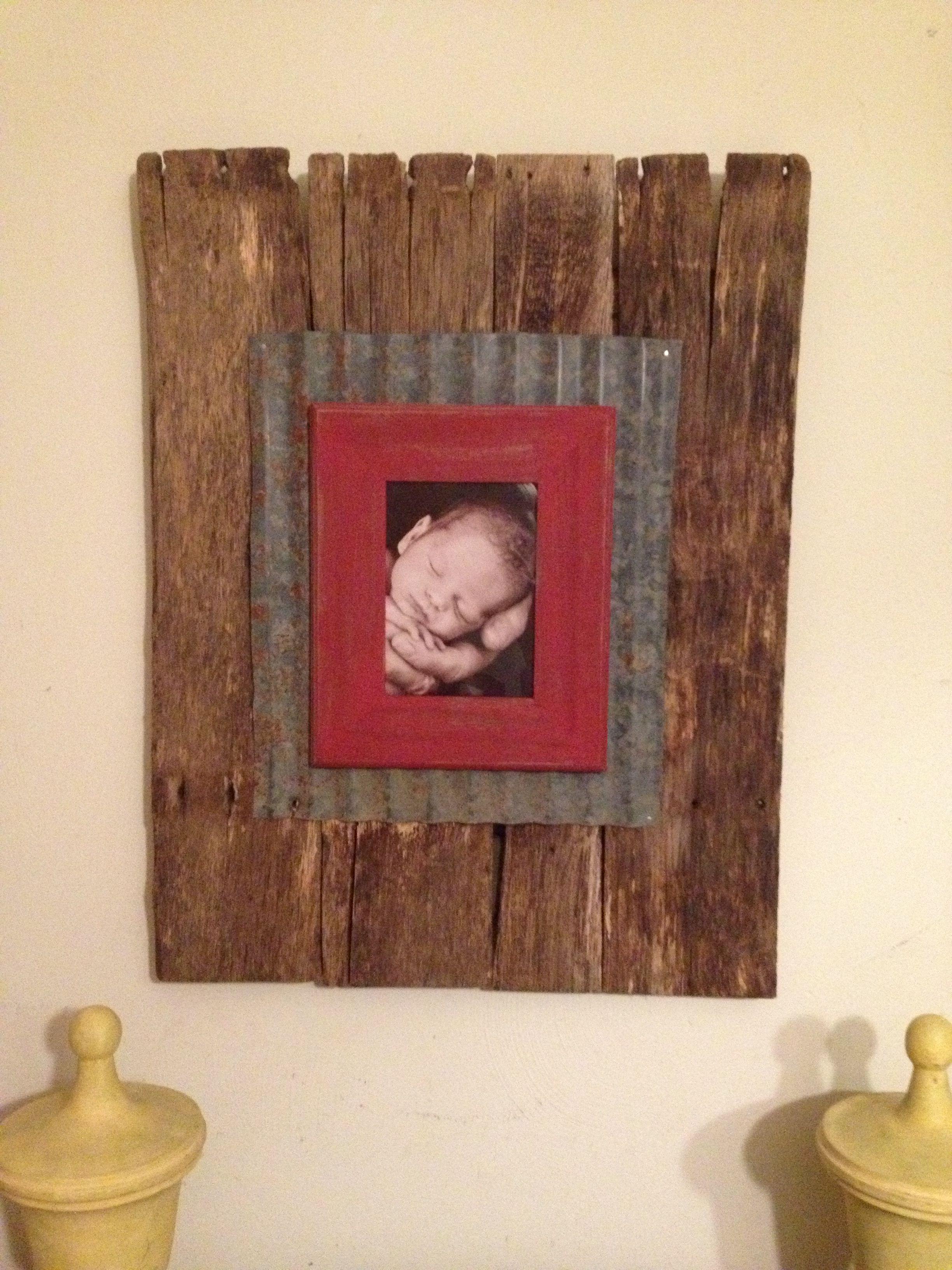 Barn wood frame....my favorite so far! | crafting ideas | Pinterest ...