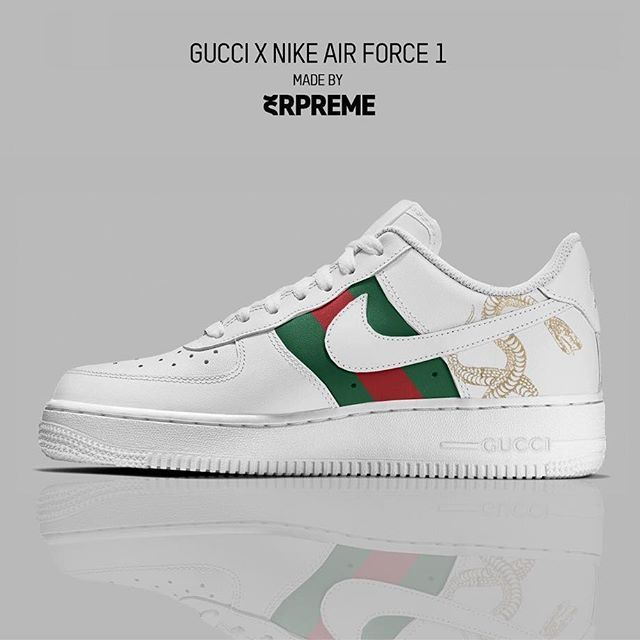 low priced b318e c6deb  Gucci X Nike Air Force 1  pt.2 Cop   🔥 Drop   👎🏽 Do you prefer the  black or white version