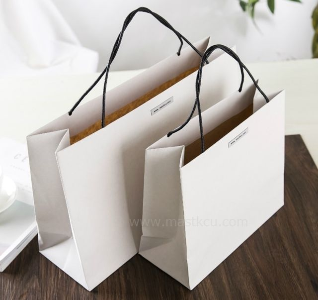 Double Sided Craft Paper Bag Special Paper Bag Design Shopping Bag