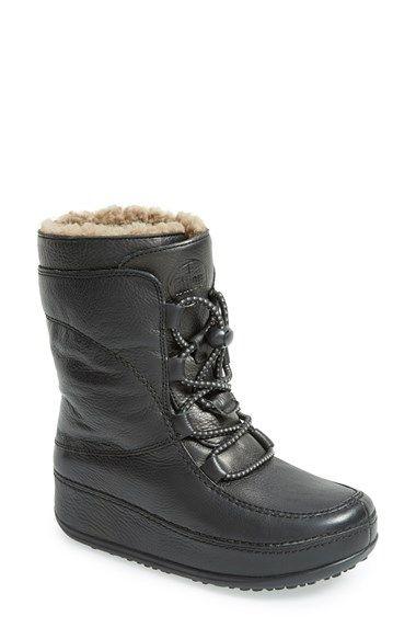 FitFlop \u0027Mukluk Moc\u0027 Lace Up Boot (Women) available at