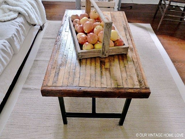 I Loveeeeeeeee This Table Made From Salvaged Bowling Alley Floor