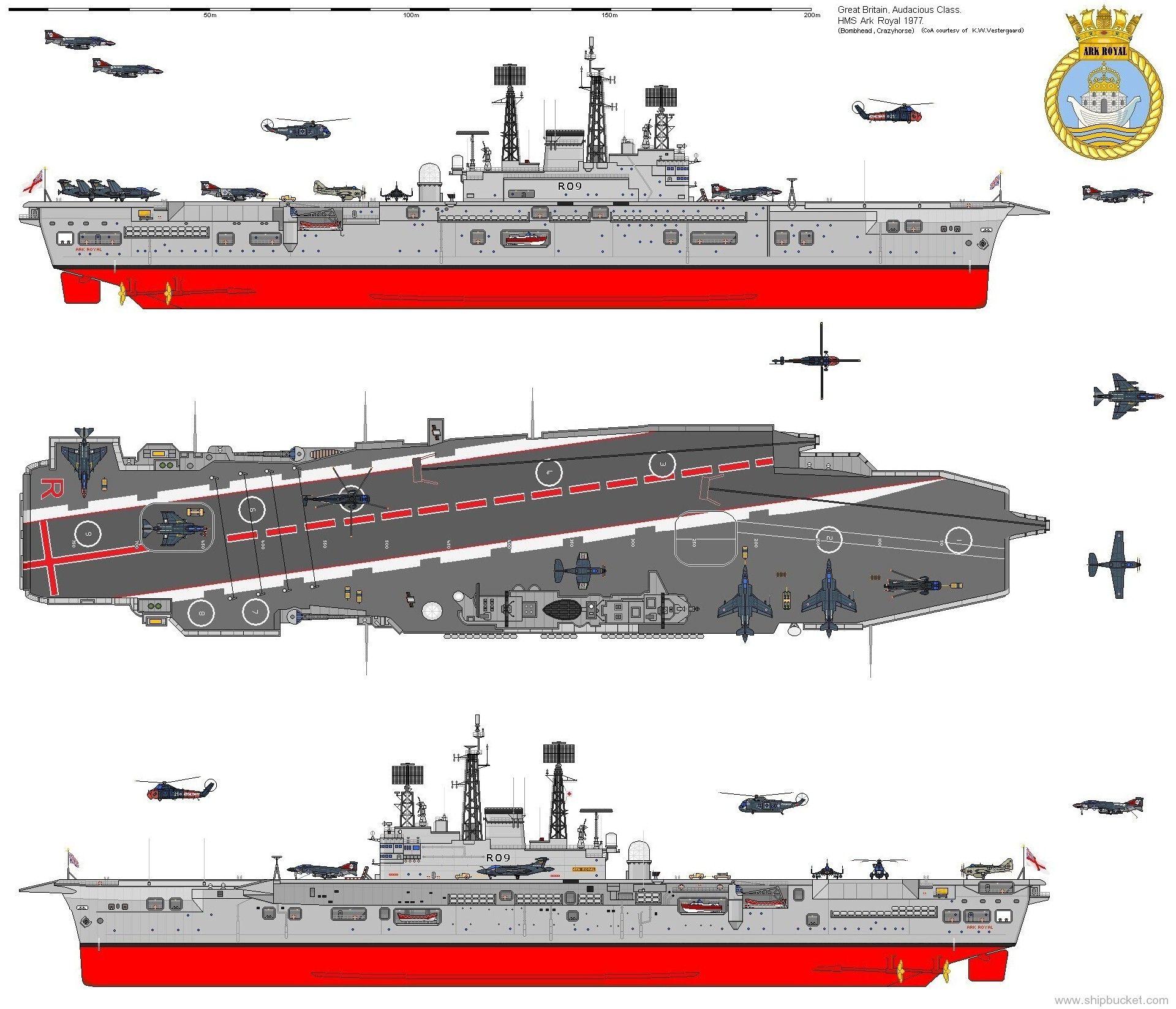 Hms Ark Royal R 09 Audacious Class Aircraft Carrier Royal Navy In 2020 Hms Ark Royal Aircraft Carrier Navy Carriers