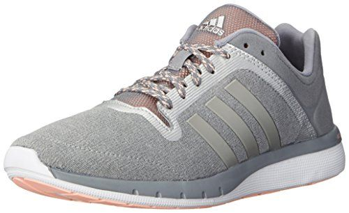 awesome adidas Performance Women's CC Cross Country Fresh 2 W Running Shoe,  Grey/Metallic/Silver/Light Flash Orange, 8 M US