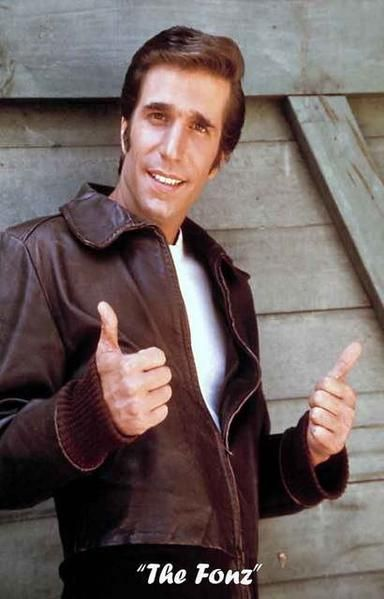 give your walls the fonzie touch with this great poster of
